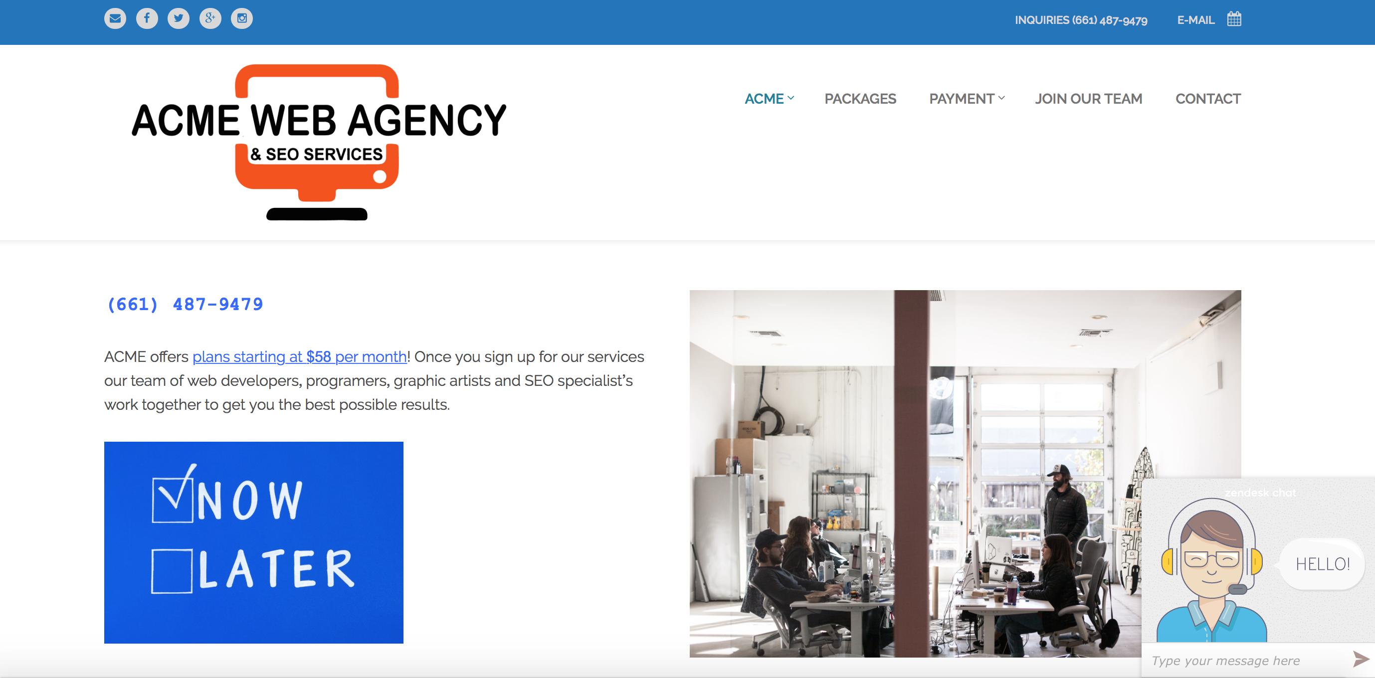 Bakersfield SEO Company, Marketing Agency Bakersfield, Acme Web Agency